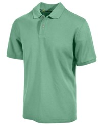 Club Room Short Sleeve Solid Estate Performance Sun Protection Polo Neptune Beso