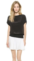 Air By Alice Olivia Batwing Top With Ribbed Bottom Black