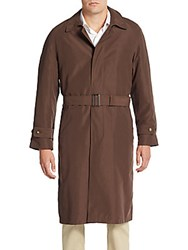 Lauren Ralph Lauren Single Breasted Trenchcoat Brown Olive
