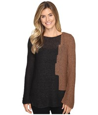 Nic Zoe Terracotta Top Dark Maple Women's Clothing Brown