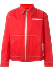 Gosha Rubchinskiy Zipped Boxy Jacket Red