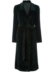 Tagliatore Belted Mid Length Coat Green