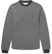 Oliver Spencer Rica Slim Fit Striped Cotton Sweatshirt Gray