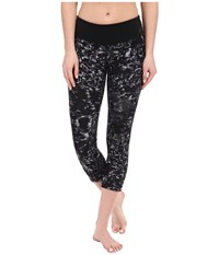 New Balance Premium Performance Capri Print Pants Black Grey Women's Capri