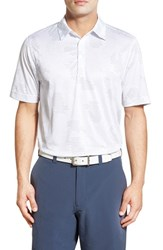 Cutter And Buck Men's 'Particle Print' Drytec Golf Polo White