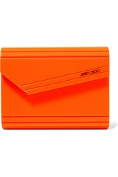Jimmy Choo Candy Neon Acrylic Clutch Bright Orange