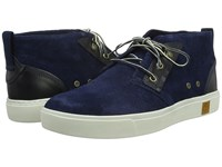 Timberland Amherst Chukka Navy Suede Men's Lace Up Boots Blue