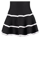 Molly Bracken Mini Skirt Noire Blanc Black