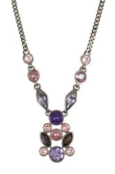 Givenchy Crystal Cluster Pendant Necklace Multi