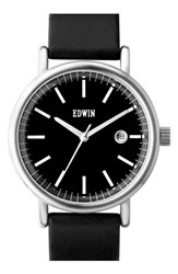 Women's Edwin 'Epic' Leather Strap Watch 38Mm