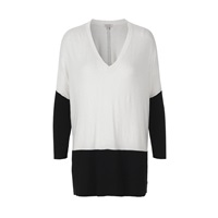Part Two Unstructured Stretch Knit. White