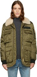 Dsquared2 Green Multi Pocket Puff Jacket