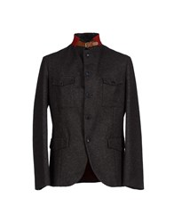 Luis Trenker Suits And Jackets Blazers Men Steel Grey