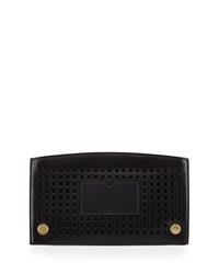 Reed Krakoff Lined Atlantique Perforated Leather Zip Pouch Black
