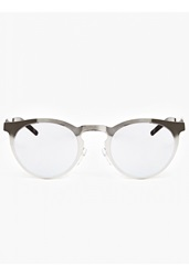 Illesteva Silver Le Steel' Mirrored Sunglasses