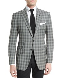 Tom Ford O'connor Base Prince Of Wales Sport Jacket Black White