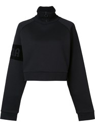 Puma Cropped Turtleneck Zipped Sweatshirt Black