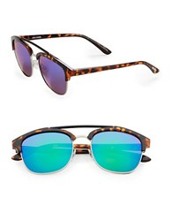 Steve Madden 51Mm Square Aviator Sunglasses Tortoise