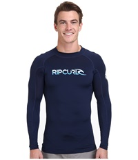 Rip Curl Corp Long Sleeve Rashguard Navy Men's Swimwear