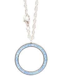 Macy's Apatite Channel Set Circle Pendant Necklace 1 1 5 Ct. T.W. In Sterling Silver