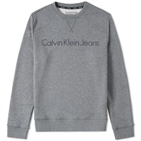 Calvin Klein Jeans Ck Reissue Crew Sweat Grey
