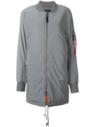 Alpha Industries Zipped Coat Grey