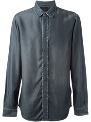 Diesel Black Gold Distressed Denim Shirt Grey