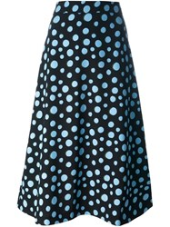 House Of Holland Spotlight Print Skirt Black