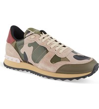 Valentino Camo Print Trainers Red Other