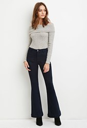 Forever 21 High Waisted Flared Jeans Indigo
