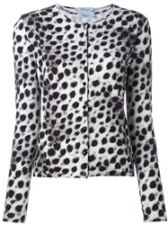 Blumarine Leopard Print Cardigan And Tank Set