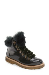 Agl Women's 'Haute' Genuine Rabbit Fur Platform Hiking Boot