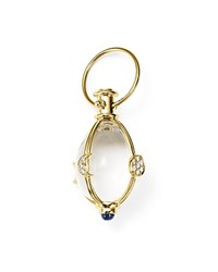 Temple St. Clair 18K Yellow Gold Lunar Phase Amulet With Blue Sapphire And Diamond Blue White
