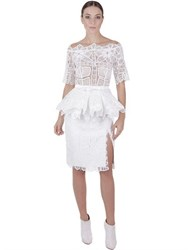 Martha Medeiros Handmade Cotton Lace Dress