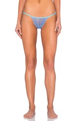 Only Hearts Club Whisper Sweet Nothings Lace Back Bikini Blue