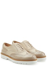 Hogan Patent Leather Wingtips Brown