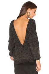 Callahan Sparkle V Back Sweater Black