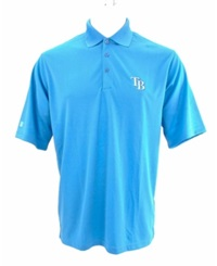 Antigua Men's Tampa Bay Rays Exceed Polo Shirt Lightblue