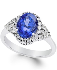Macy's Tanzanite 2 Ct. T.W. And Diamond 3 8 Ct. T.W. Ring In 14K White Gold