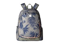 Roxy Alright Printed Backpack Indo Floral Combo Dusty Olive Backpack Bags Gray