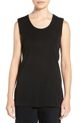 Ming Wang Women's Long Knit Tank Black