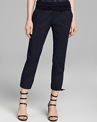 Dkny Pure Cropped Pull On Utility Pants Sailor Navy Sail