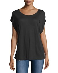 Ag Jeans Ag Converge Wrap Draped Back Top True Black