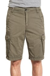 Men's Union 'Pacific Coast' Raw Hem Cargo Shorts Badge Olive