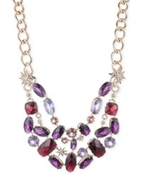 Anne Klein Gold Tone Multi Stone And Pave Collar Necklace