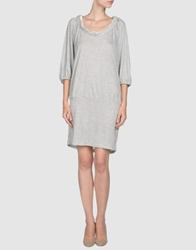 Designers Remix Collection Short Dresses Light Grey