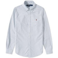 Polo Ralph Lauren Button Down Stripe Oxford Shirt Blue