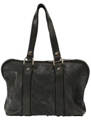Guidi Double Handles Tote Black
