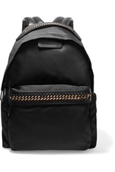 Stella Mccartney The Falabella Faux Leather Trimmed Shell Backpack Black
