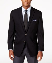 Calvin Klein Stretch Wool 2 Button Blazer Navy